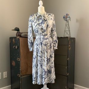 1980s matching skirt and blouse set
